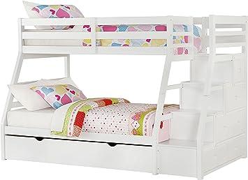 Amazon Com Acme Jason Twin Full Bunk Bed 37105 Kitchen Dining