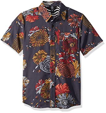 72fe8f19 Amazon.com: Volcom Big Boys' Stoney Delusion Short Sleeve Button up Woven  Shirt: Clothing