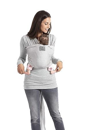 b5df9993c6f Manduca Sling Écharpe de bébé élastique en jersey souple aspect mélangé  100% coton biologique sans