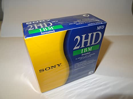 """1.44MB 10-Pack ! 10MFD-2HDCF Sony Diskette 2HD IBM Formatted 3.5/"""" 90MM"""