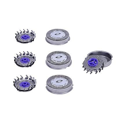 3 x Cabezales de Repuesto para Afeitadoras Eléctricas Hoja de Afeitar para  Philips HQ4+ HQ55 HQ40 b2c015abf996