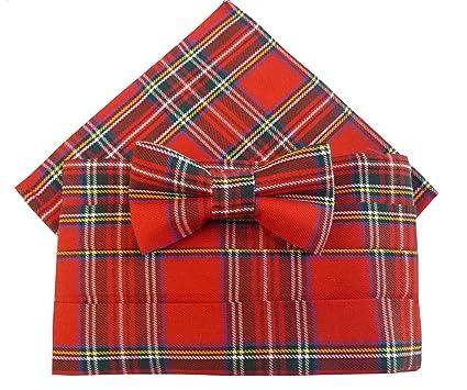 e283022ce595 Image Unavailable. Image not available for. Color: Royal Stewart Tartan  Cummerbund Set (includes Bow Tie ...