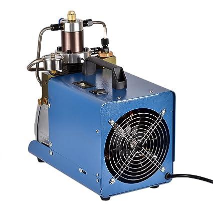 MIDOU 30WPA Bomba de Compresor de aire Eléctrica de alta Presión, 4500PSI 80L/Min para la Botella de Inflación Inflador PCP Rifle de Buceo Neumatico: ...