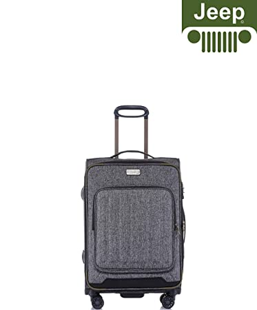 24ce3d79e0 Jeep Tundra 2019 Polyester 20 Inch Soft Case Suitcase Travel Trolley  Tourist Bag with Spinner Wheels Luggage Set (Dark Grey): Amazon.in: Bags,  ...