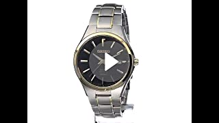 Seiko Mens SNE382 Two-Tone Titanium Watch