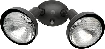Woods L1641BR Designers Edge Modern Double Flood Light with Bulb Shield, Housing, 2,