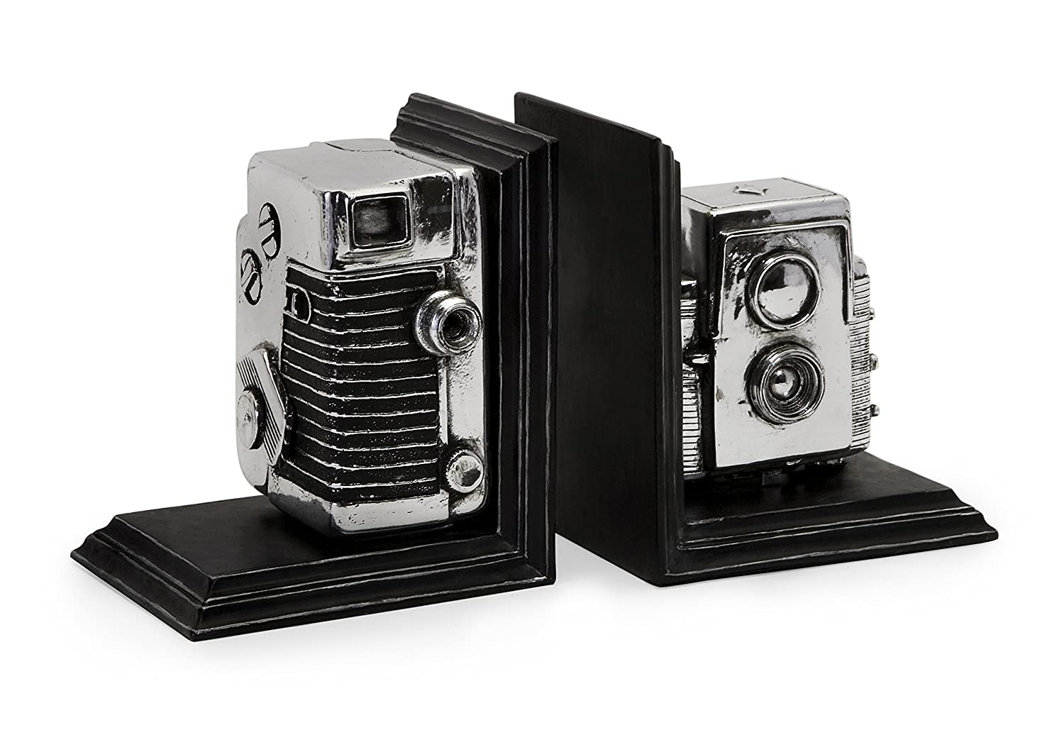 IMAX 36133 Vintage Camera Bookends - Decorative Bookends, Storage Boxes, Book Holders. Home Decor Accents