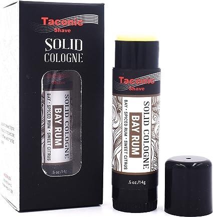 Taconic Shave Bay ron Colonia sólido para los hombres por - un aroma clásico - con notas de cítricos y especias - Fácil aplicación
