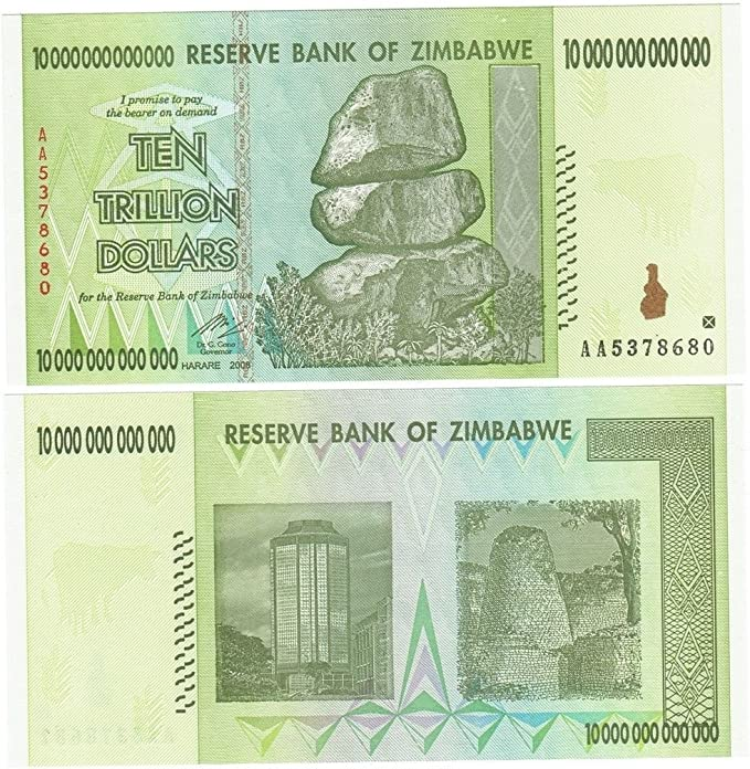 ZIMBABWE 5  BILLION  DOLLARS  2008 P 61   Uncirculated Banknotes