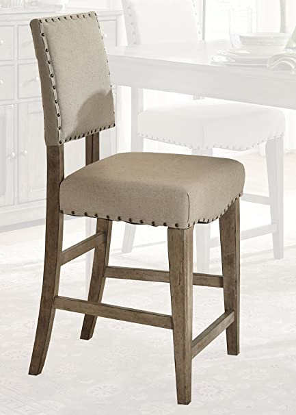 Liberty Furniture 645 B650124 Weatherford Dining Upholstered Counter Chair,  19u0026quot; X 19u0026quot;