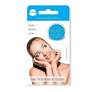 [Dream Dots] Parches que absorben el acné o los puntos negros. 24 parches en 4 hojas