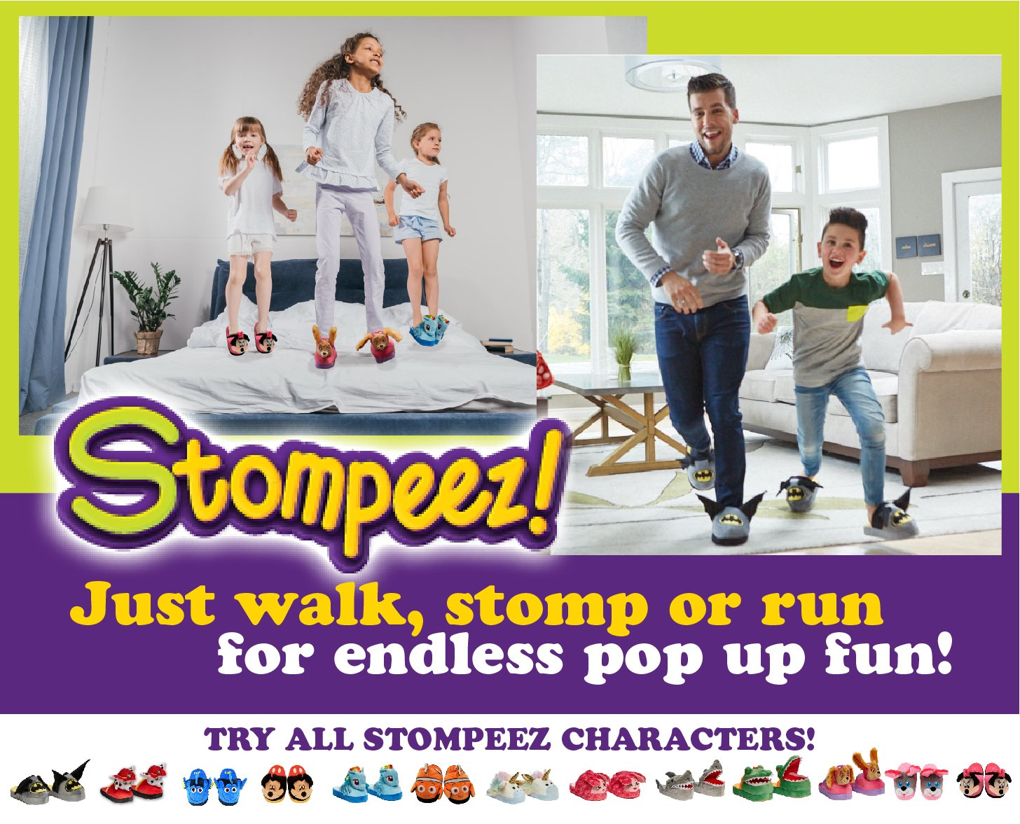 Stompeez Animated Dory Plush Slippers - Ultra Soft and Fuzzy - Fins Flap and Flutter as You Walk - Large by Stompeez (Image #5)
