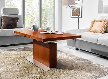 Amazon De Design Couchtisch Tisch Mn 7 Kirschbaum Hohenverstellbar