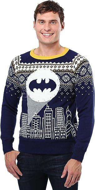 Batman Bat Signal Ugly Christmas Sweater - XS