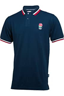 e766d6fca85 England Rugby Classic Pique Polo Shirt: Amazon.co.uk: Sports & Outdoors