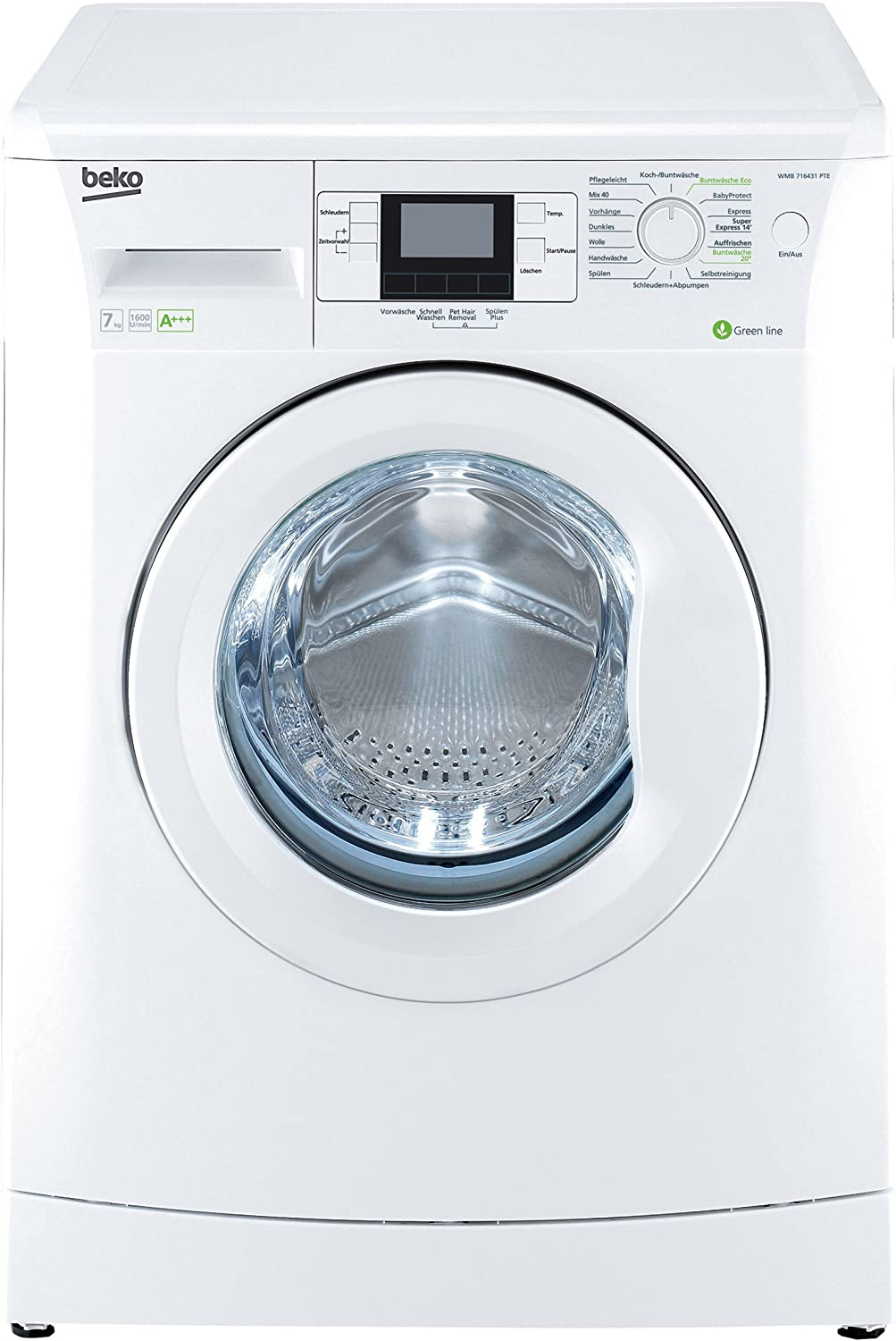 Beko WMB 71643 PTE - Lavadora (Independiente, Color blanco, Frente ...