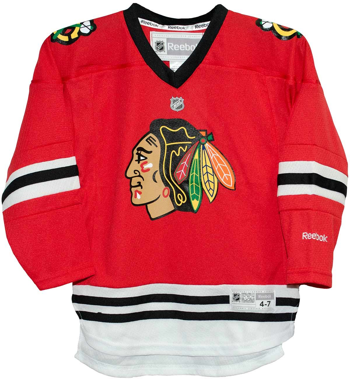e7317d900ca Amazon.com   Chicago Blackhawks Home Red Screen Print Child 4-7 Jersey    Sports   Outdoors