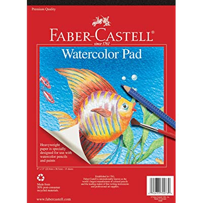Faber-Castell Watercolor Paper Pad - 15 Sheets (9 x 12 inches): Toys & Games
