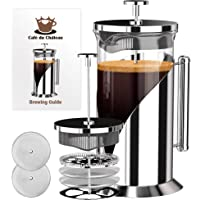 French Press Coffee Maker With 4 Level Filtration System