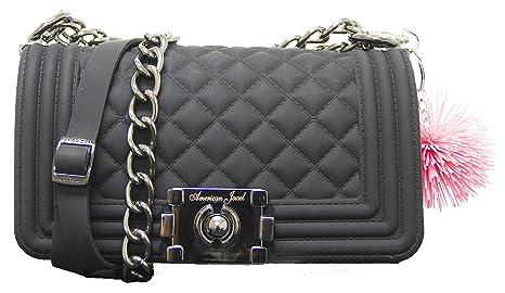 Amazon.com  Danielle Boy Bag Purse - Silicone Shoulder Bag with ... 417548c91