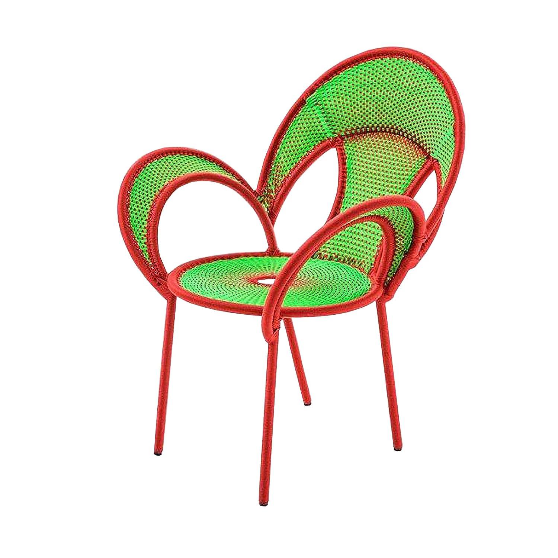 Banjooli Armlehnstuhl hellgrün/rot