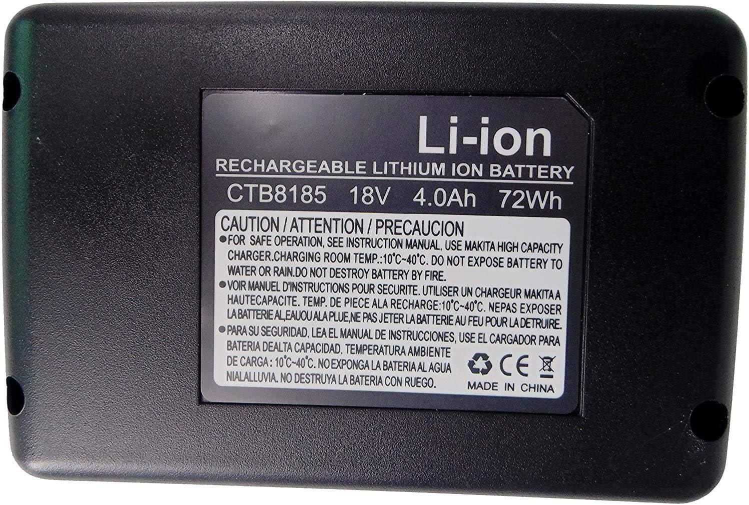 CDR7850H CTB8185 Golem-power 18V 4000mAH CTB8185 Li-ion Bater/ía de herramientas el/éctricas Compatible con Snap on CT7850 CTL7850 CTB8187 CTB7185