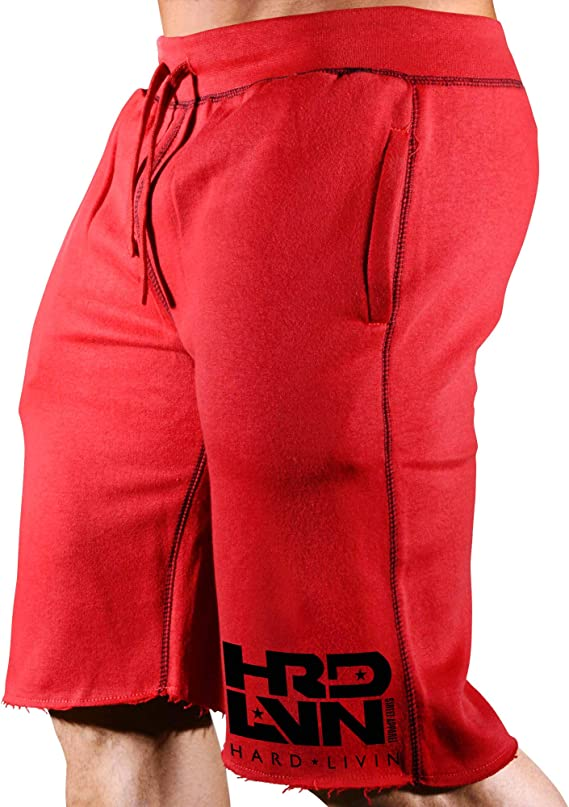 Monsta Clothing Co. Men's Workout (Hard Livin HRD-LVN) Fitness Gym Sweat Shorts