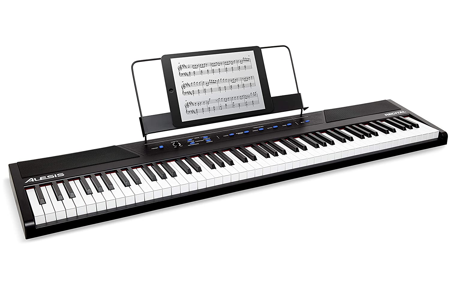 Details about Alesis Recital - 88-Key Beginner Digital Piano / Keyboard  with Full-Size