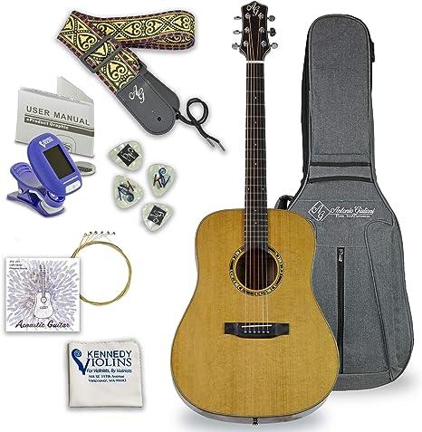 Antonio Giuliani DN-5 - Guitarra acústica de cuerda de acero de ...