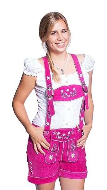 Pantalón corto tirolés con tirantes para mujer 7f939d8c2233