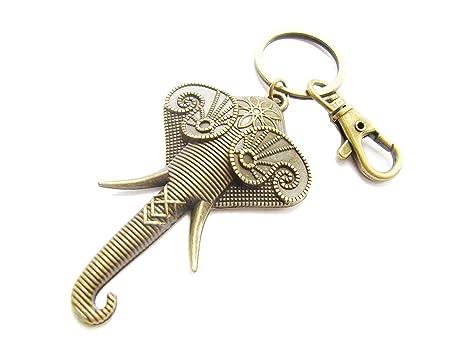 Amazon.com: Llavero de elefante, llavero de elefante, buena ...