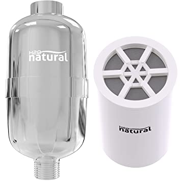 shower filter by h2o natural high output chlorine removing showerhead filtration system u0026 water softener