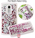 KC Liquid Flowing 3D Bling Glitter Star Transparent Soft Back Cover for Xiaomi Redmi note 4 - Silver