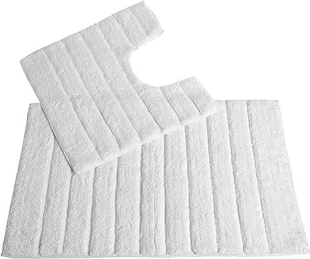 Allure 2 Pce Cotton Luxury Bathroom Sets,Pedestal Bathroom Mat Set.100/% Cotton.