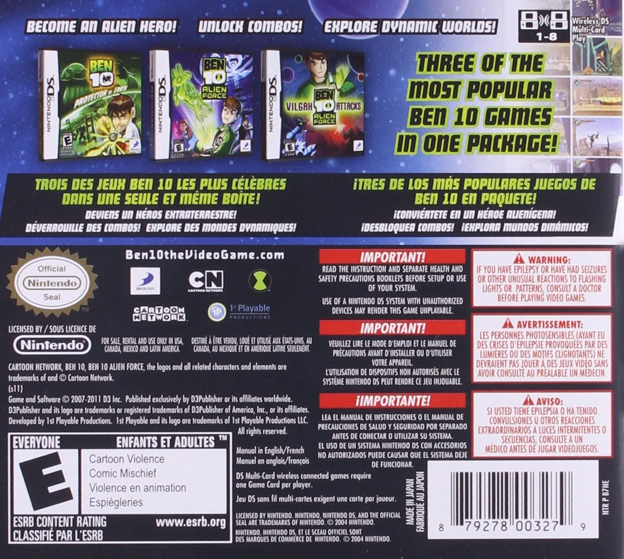 amazon com ben 10 triple pack nintendo ds video games