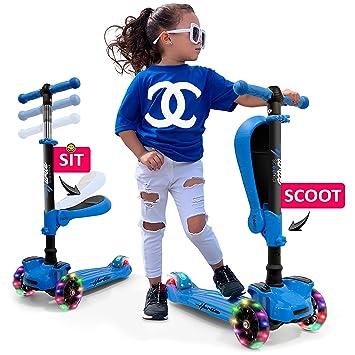 Amazon.com: Hurtle HURFS66.5 Patinete de 3 ruedas para niños ...