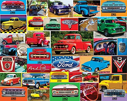 Amazon.com: Puzzles de montaña blancos clásicos Ford Pickups ...