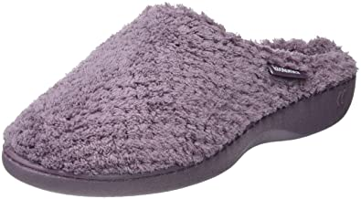 485287afd8b2ae Isotoner Women s Popcorn Terry Mule Slippers Low-Top  Amazon.co.uk ...