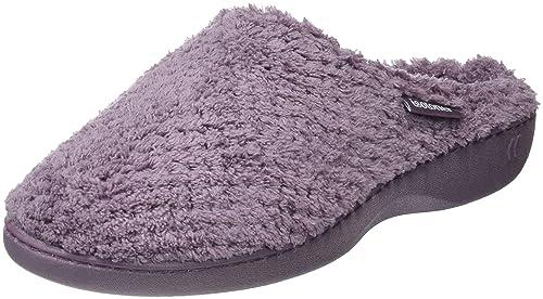 Isotoner Popcorn Terry Mule Slippers, Zapatillas de Estar por casa para Mujer, Gris (Mink MNK), 37 EU: Amazon.es: Zapatos y complementos