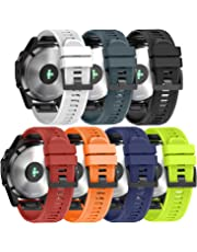 ANCOOL Compatible Garmin Fenix 5 Band Easy Fit 22mm Width Soft Silicone Watch Strap Replacement for Garmin Fenix 5/Fenix 5 Plus/Forerunner 935/Approach S60/Quatix 5