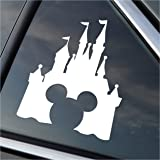 mickey mouse peeking style 2 5quot white vinyl decal