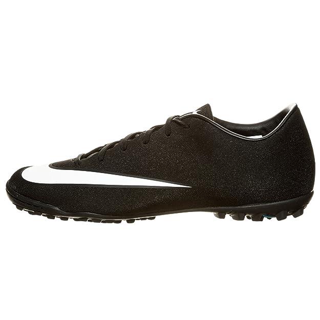 44035a76de Nike Mercurial Victory V CR7 TF Cristiano Ronaldo Turf Soccer Cleat (11.5  D(M) US, Black/White-Neo Turqoise): Amazon.ca: Shoes & Handbags