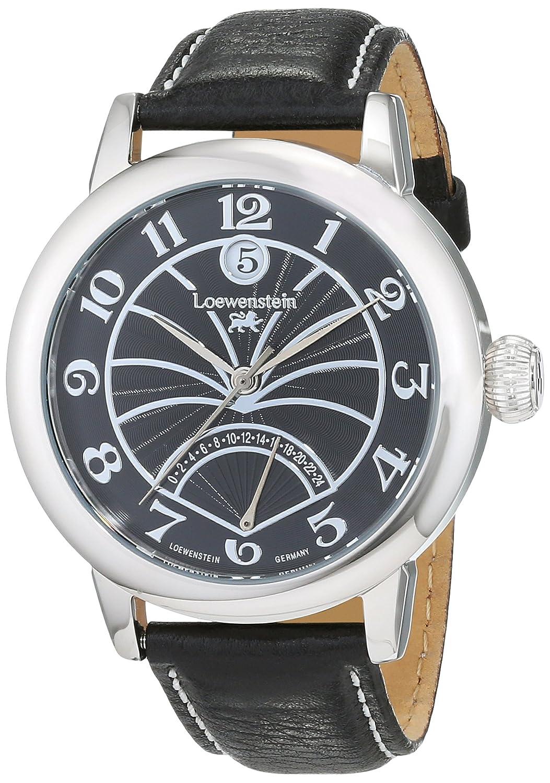 LÖwenstein Herren-Armbanduhr Analog Automatik Leder LO-HQ22006-863S