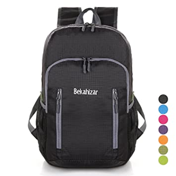 209e375555c Bekahizar 20L Ultra Lightweight Backpack Foldable Water Resistant Camping  Hiking Outdoor Backpack Daypack Small Rucksack for