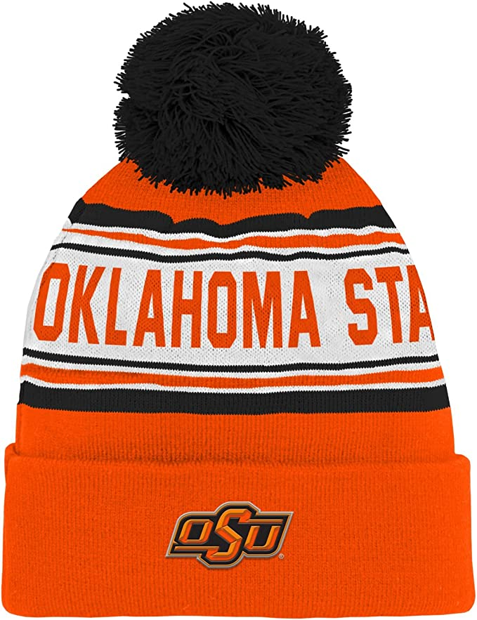 Adjustable NCAA Zephyr Oklahoma State Cowboys Mens Pom Knit Beanie Team Color