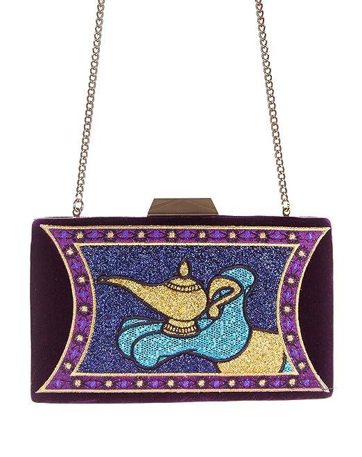 Danielle Nicole Disney Aladdin Magic Lamp Clutch Bag: Amazon.es: Ropa y accesorios