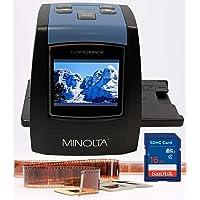 MINOLTA Film & Slide Scanner, Convert Color & B&W 35mm, 126, 110 Negative & Slides, Super 8 Films to High Resolution…
