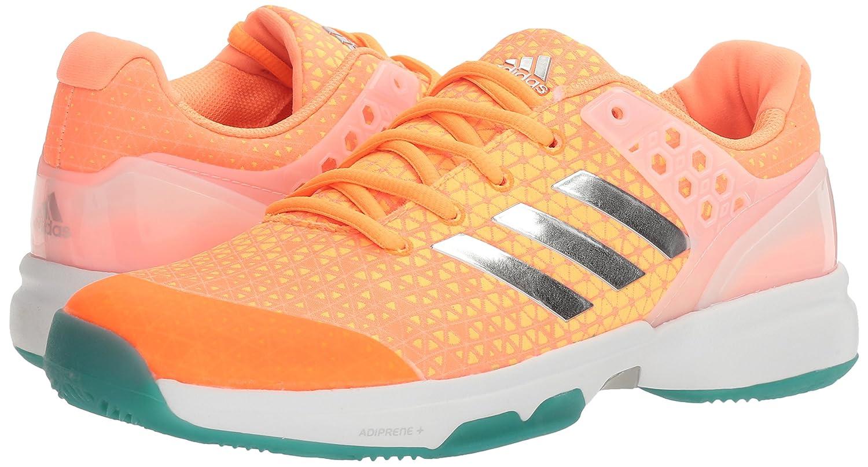low priced 44f63 d1dfa Amazon.com  adidas Womens Adizero Ubersonic 2W Tennis Shoes Glow  OrangeMetallic SilverSamba Blue (6 M US)  Tennis  Racquet Sports