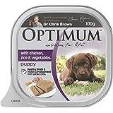 OPTIMUM Puppy with Chicken Wet Dog Food 100g Tray 12 Pack