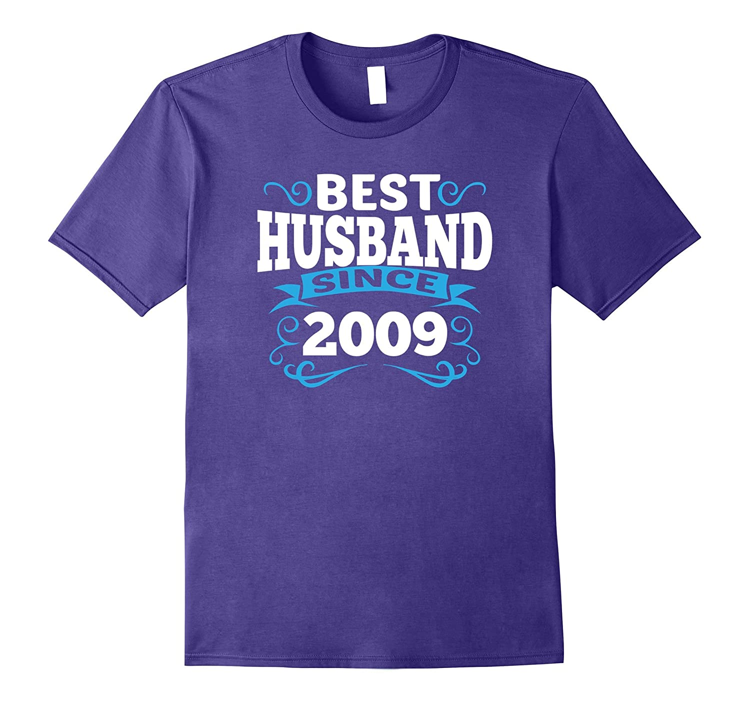 Mens 8th Wedding Anniversary Gift Best Husband Since 2009 Bronze-T-Shirt